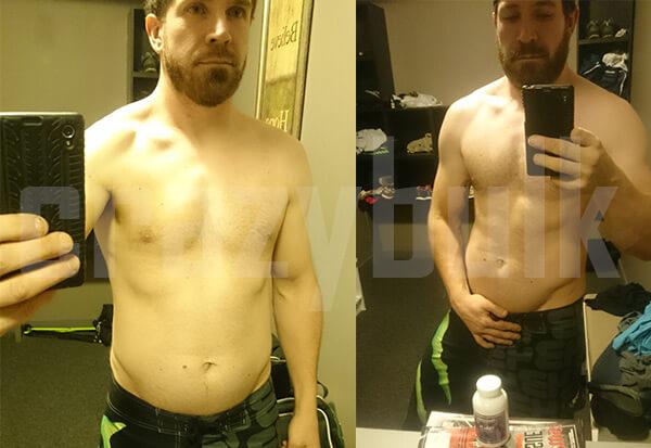 Clembuterol antes y después de2
